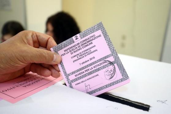 Referendum, quattro Sì: qui Costa un Po' e Tresignana